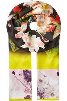 TED BAKER Opulent bloom long scarf