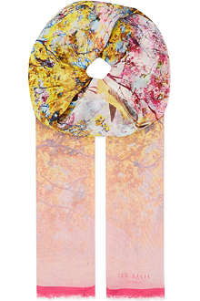 TED BAKER Pretty trees print scarf