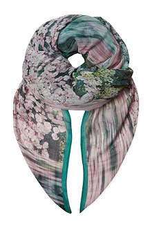 TED BAKER Glitch floral print scarf