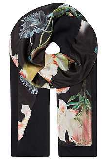 TED BAKER Opulent bloom split scarf