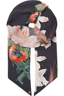 TED BAKER Opulent bloom skinny scarf