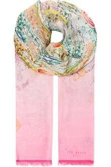 TED BAKER Wispy meadow print scarf