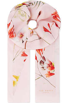 TED BAKER Botanical bloom split scarf