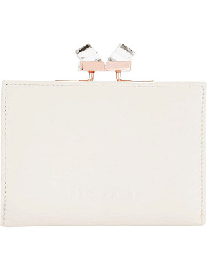 TED BAKER Elly jewel-embellished square leather purse