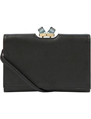TED BAKER Junlia jewel-embellished leather cross-body bag