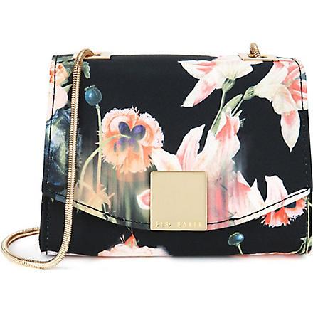 TED BAKER Keira opulent bloom clasp clutch (Black