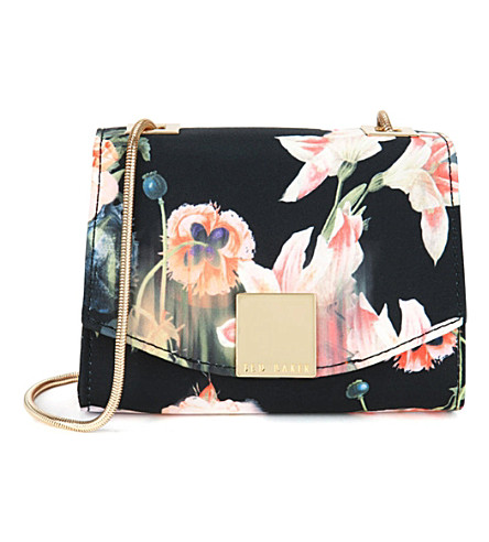 TED BAKER Keira opulent bloom clasp clutch (Black