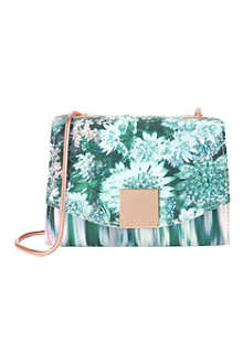TED BAKER Glitch floral-print clutch
