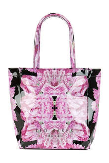 TED BAKER Tenicon floral-print small shopper bag