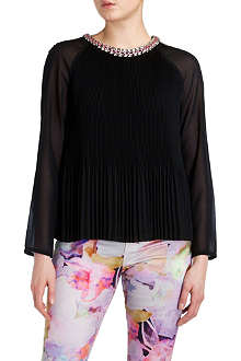 TED BAKER Lovina beaded neckline top