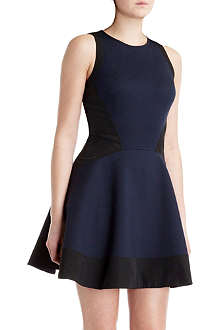 TED BAKER Hearn contrast-panel dress