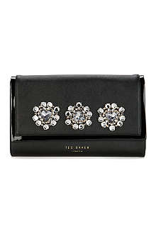 TED BAKER Jewelled oversized clutch