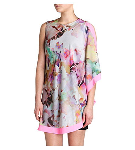 TED BAKER Elsee electric day dream tunic dress (Lemon
