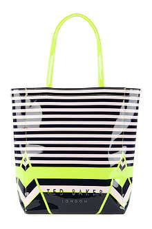 TED BAKER Cancon striped shopper bag