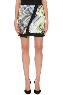 TED BAKER Parquet geometric print wrap skirt
