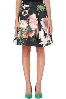 TED BAKER Palaida floral-print skirt
