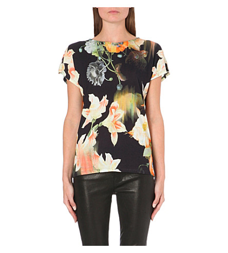 TED BAKER Opulent bloom t-shirt (Black