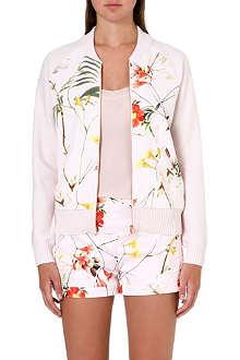 TED BAKER Caithi floral-print bomber jacket