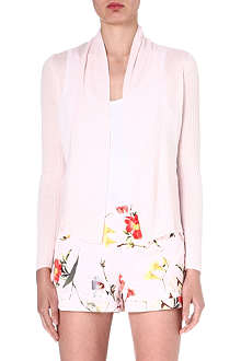 TED BAKER Darcee floral-panel cardigan