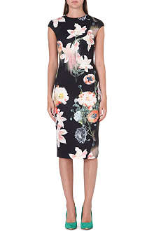 TED BAKER Candiss floral-print stretch-jersey dress