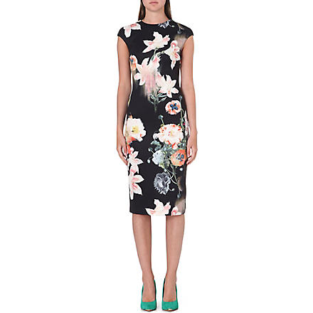 TED BAKER Candiss floral-print stretch-jersey dress (Black