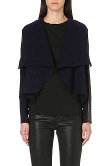 TED BAKER Leather trim cardigan wrap