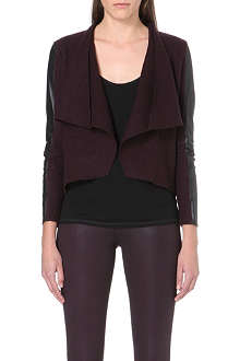 TED BAKER Gaeton leather-trim cardigan