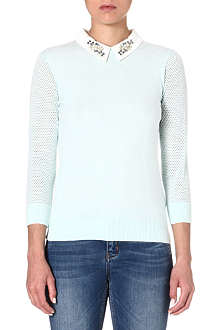 TED BAKER Helane embellished collar jumper