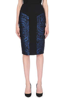 TED BAKER Carron jacquard pencil skirt