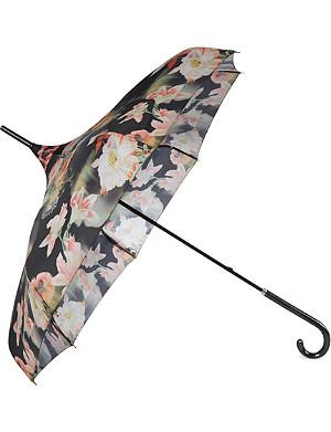 TED BAKER Opulent bloom print parasol
