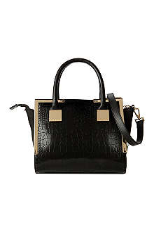 TED BAKER Fayla mini exotic trapeze bag