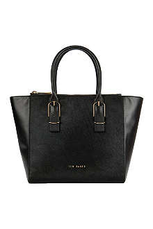 TED BAKER Large zip detail shopper bag