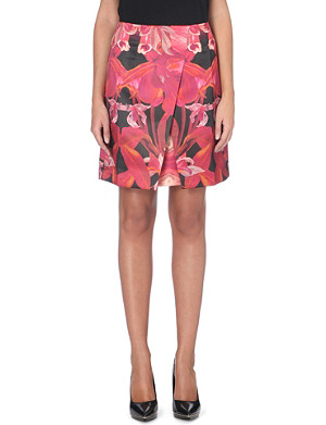 TED BAKER Jungle orchid print skirt