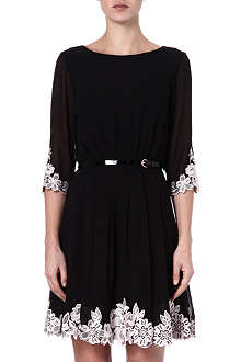 TED BAKER Faey embroidered dress