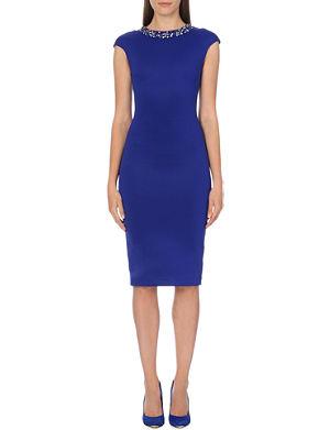 TED BAKER Embellished midi dress