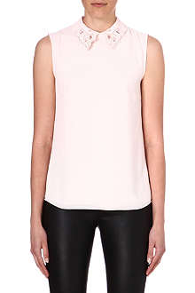TED BAKER Freyja embellished-collar top