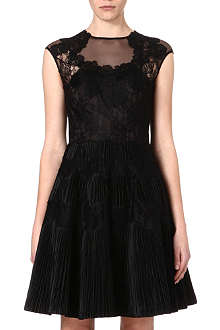 TED BAKER Lace cap sleeve dress