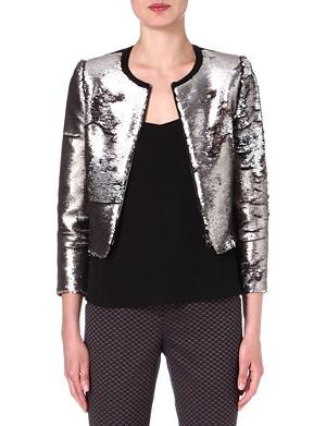 TED BAKER Blubele sequinned jacket