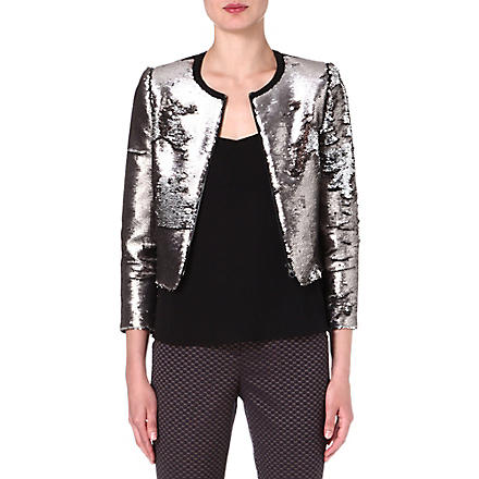 TED BAKER Blubele sequinned jacket (Silver