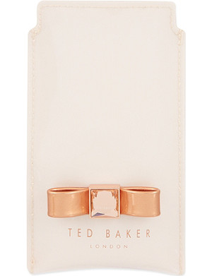 TED BAKER Metallic bow phone sleeve