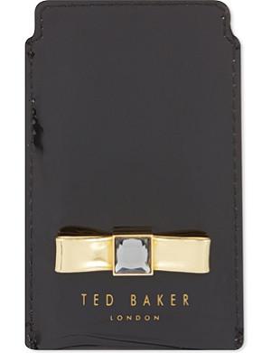 TED BAKER Metallic bow phone sleeve