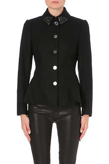 TED BAKER Embellished peplum jacket