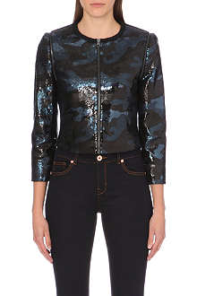 TED BAKER Camouflage sequin jacket