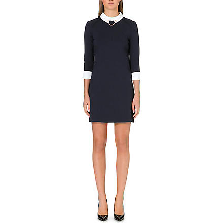 TED BAKER Contrast collar dress (Navy