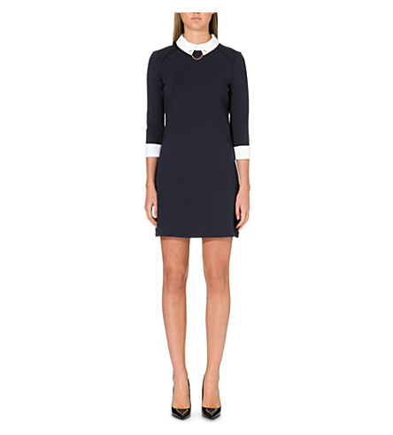 TED BAKER Contrast collar dress (Navy