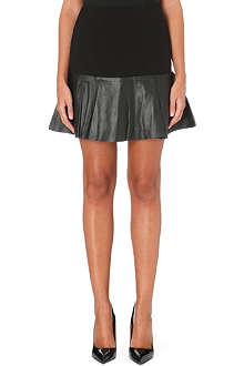 TED BAKER Leather-panel skirt