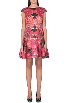 TED BAKER Jungle orchid dropped waist dress