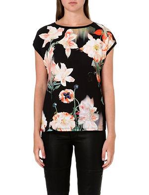 TED BAKER Debrah floral-print top