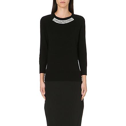 TED BAKER Crystal embellished jumper (Black