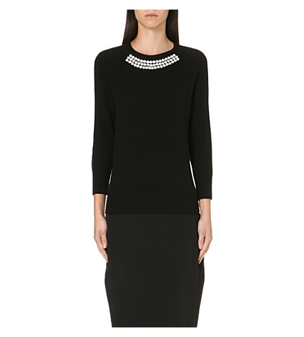 TED BAKER Crystal embellished jumper (Black